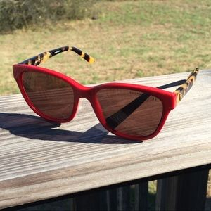 Ralph Lauren Red and Tortoise Shell Sunglasses